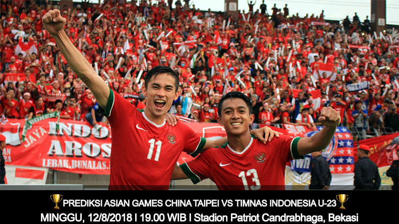 Prediksi Asian Games China Taipei vs Timnas Indonesia U-23