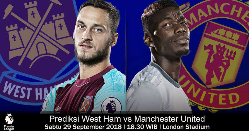 West Ham vs Manchester United 29 September 2018 : Saling Unjuk Gigi