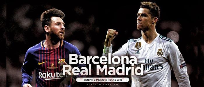Prediksi Bola Barcelona vs Real Madrid TNGL 7 Mei 2018