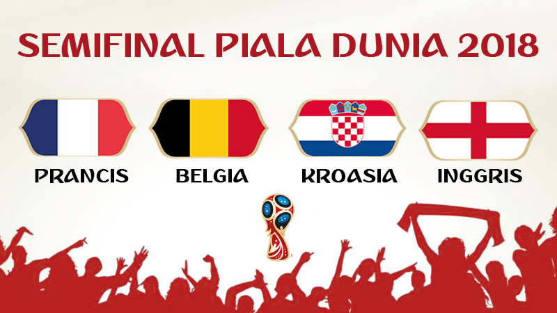 Negara Semifinal Piala Dunia 2018