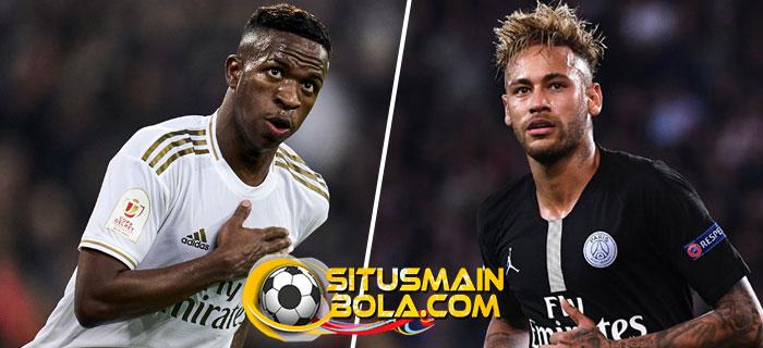 PSG Andalkan Neymar Untuk Datangkan Vinicius Jr