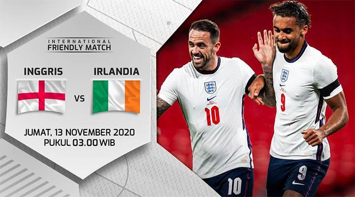 Prediksi Inggris vs Republik Irlandia 13 November 2020 di Wembley
