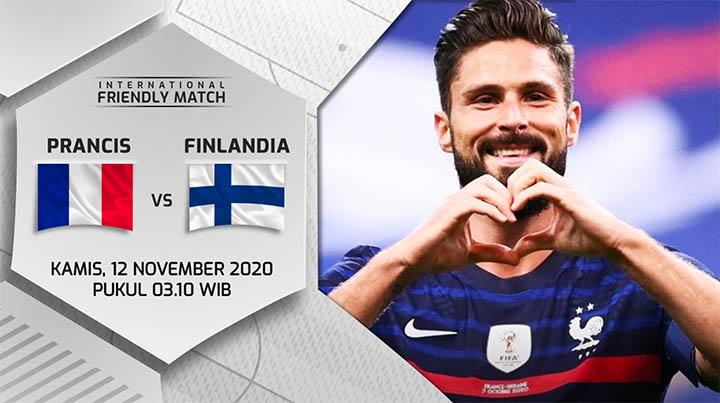 Prediksi Prancis vs Finlandia 12 November 2020 di Stade de France