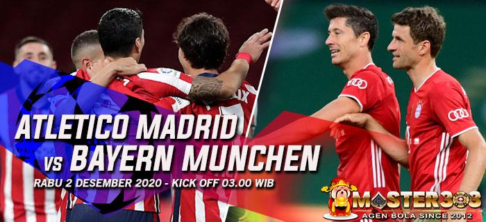 Prediksi Atletico Madrid vs Bayern Munchen 2 Desember 2020