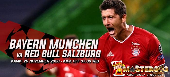 Prediksi Bayern Munchen vs Red Bull Salzburg 26 November 2020