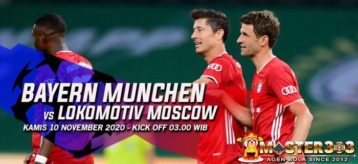 Prediksi Bayern Munchen vs Lokomotiv Moscow 10 Desember 2020